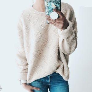 crochet heart sweater